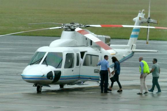 Macri envió el helicóptero presidencial al aeropuerto de Punta del Este. Foto: Ricardo Figueredo