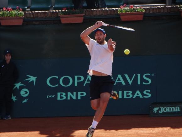 Martín Cuevas en acción