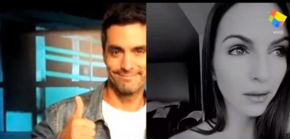 Adrián Navarro y Martina Graf (Captura tv)
