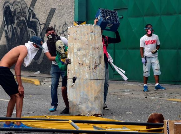 Disturbios en Venezuela tras la marcha opositora. Foto:AFP