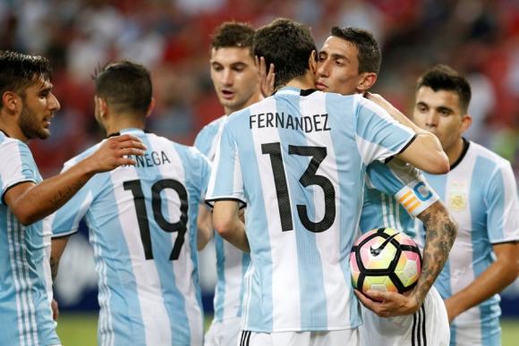 Argentina goleó a Singapur por 6-0 en un partido amistoso. Foto: Reuters