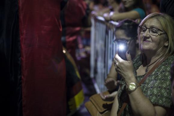 Unas 25.000 personas estuvieron en el Carnaval de Melo este año. Las figuras de la noche fueron Moria Casán y Lucas Sugo. Foto: Mariana Castiñeiras