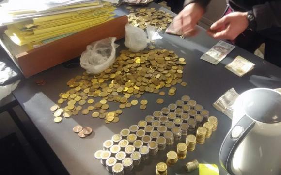 Había dinero en billetes y en monedas de diferente valor. Foto: Unicom
