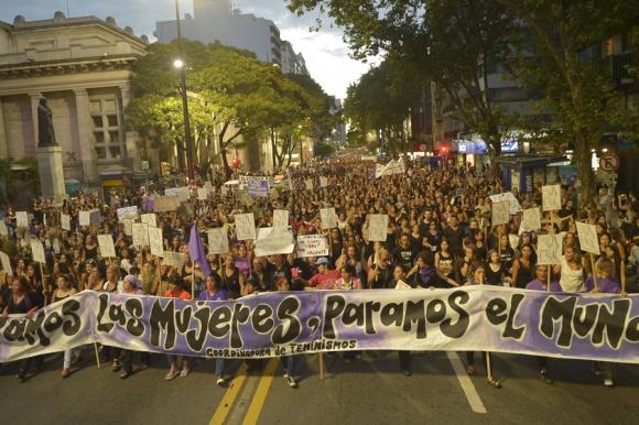 """""""No quiero tener miedo por ser mujer"""", se podía leer en una pancarta. Foto: G. Pérez"""