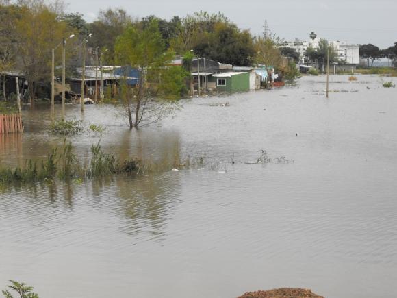 Inundaciones en Salto. Foto: Luis Pérez