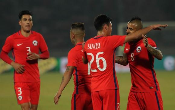 Chile se aprontó para la Copa de las Confederaciones con un triunfo ante Burkina Faso. Foto: EFE
