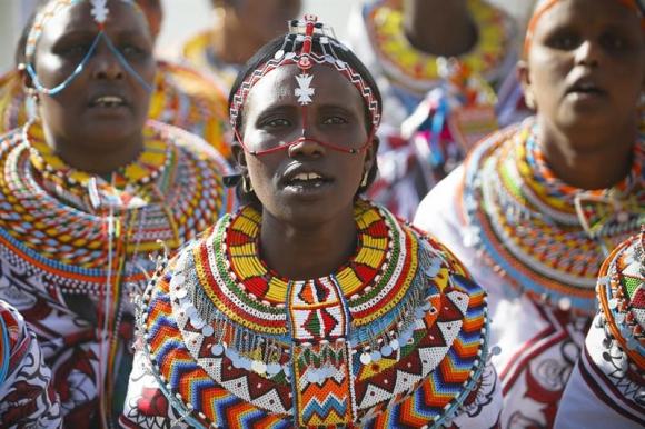 Día Internacional de la Mujer en Nairobi (Kenia). Foto: EFE