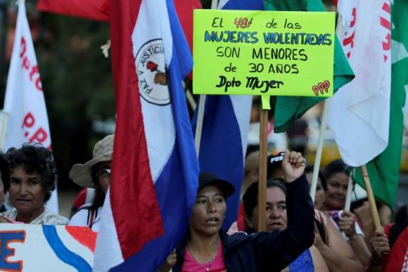 Manifestación por el Día de la Mujer en Paraguay Foto: Reuters.