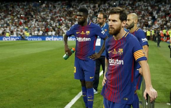 Lionel Messi en el partido entre Barcelona y Real Madrid. Foto: EFE