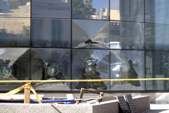 Incidentes y disturbios contra el desalojo del hogar La Solidaria. Foto: Fernando Ponzetto
