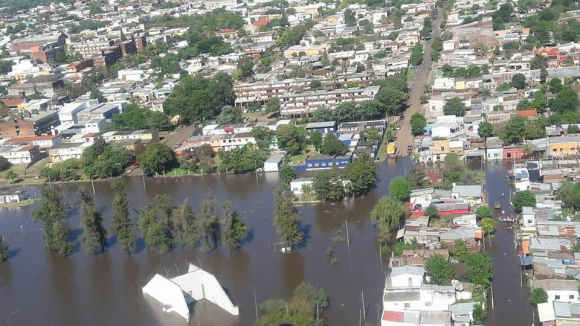 Inundaciones en Artigas: Foto: Fuerza Aérea
