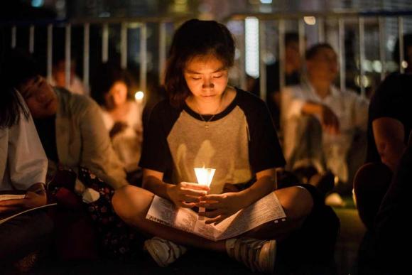 Vigilia en recuerdo de las protestas de Tianamen, Foto: AFP