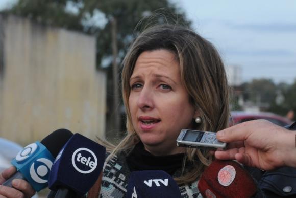Patricia Rodríguez, presidenta del Sindicato de Funcionarios Policiales. Foto: Francisco Flores.