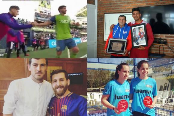 Messi con Casillas, dos uruguayas en Brasil, saludo celeste en EE.UU. y más