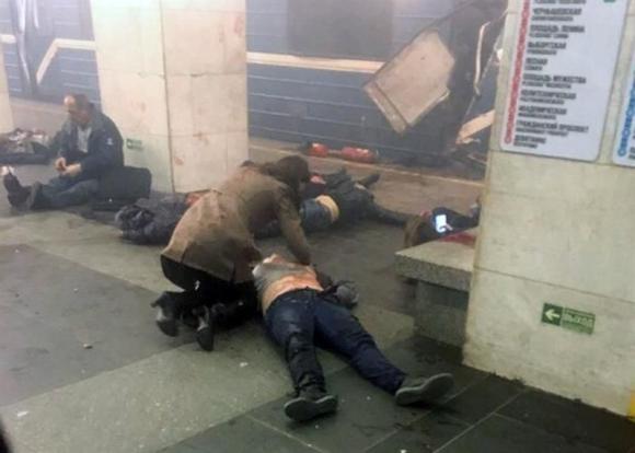 Explosión en el metro de Rusia. Foto: EFE