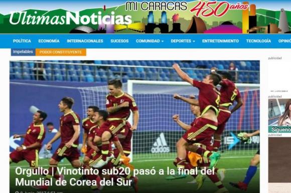 Últimas Noticias demostró que el logro deportivo generó orgullo. Foto: Captura