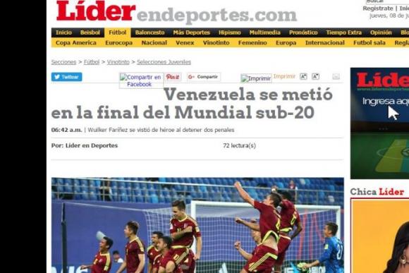 Algo de mayor destaque en portada dio el diario Líder al triunfo. Foto: Captura