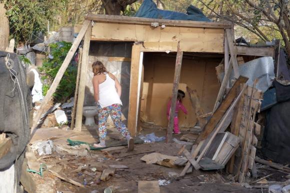 Demolición y realojo del asentamiento El Placer. Foto: Ricardo Figueredo