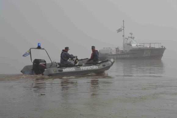 Apoyo: Prefectura siguió de cerca la búsqueda. Foto: Daniel Rojas