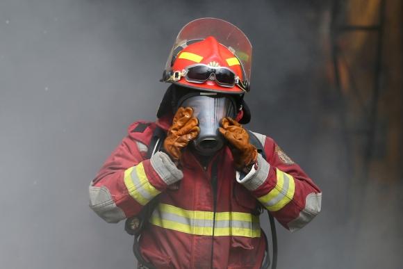 Incendio en Lima. Foto: Reuters