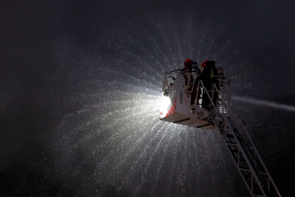 Incendio en Lima. Foto: Andina | AFP