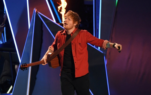 Ed Sheeran en vivo. Foto: AFP