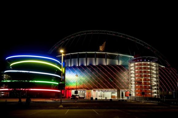 El estadio fue construido con una innovadora tecnología de refrigeración. Foto: Reuters