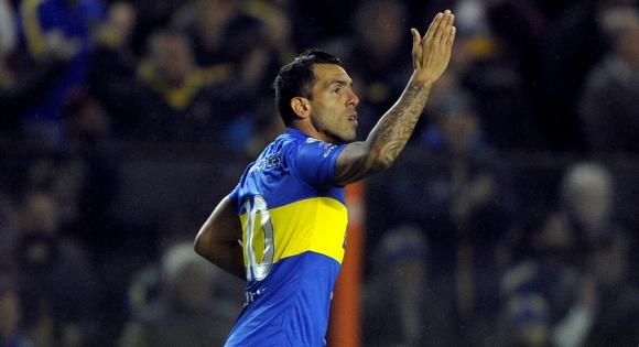 Carlos Tevez en Boca. Foto: Archivo El País.