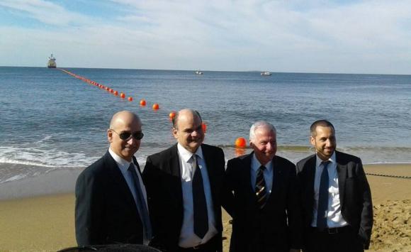 Inauguración del primer cable submarino de Antel. Foto: Presidencia.