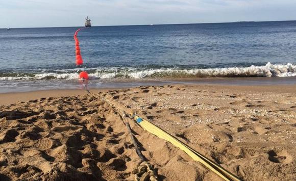 Inauguración del primer cable submarino de Antel. Foto: Antel.