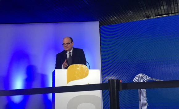 Andrés Tolosa en inauguración del primer cable submarino de Antel. Foto: Antel.
