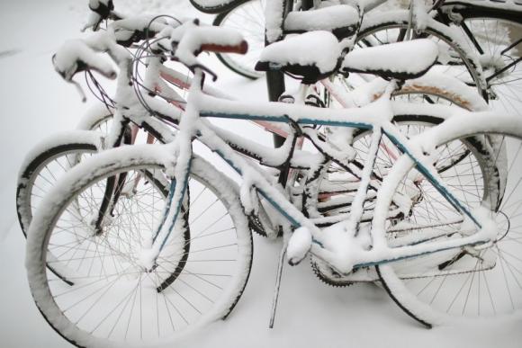 Tormenta de nieve en Chicago. Foto: AFP