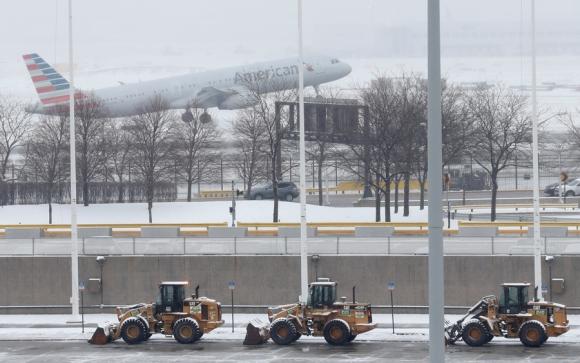 Chicago bajo nieve. Foto: AFP