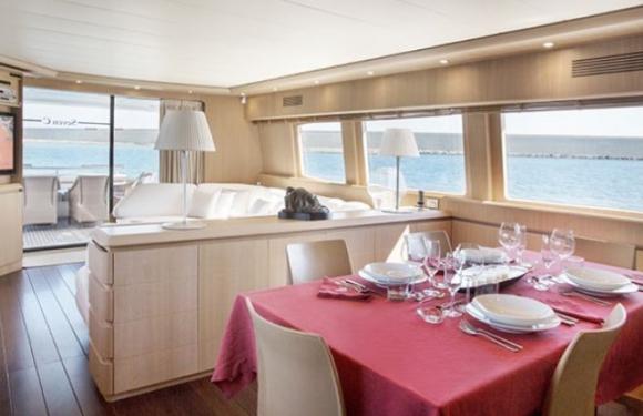 La fabulosa embarcación tiene un costo diario de casi 9.000 euros