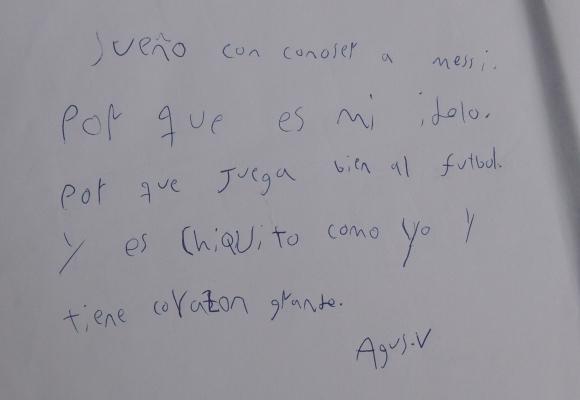 El sueño de Agustín. Foto: Fundación Corazoncitos