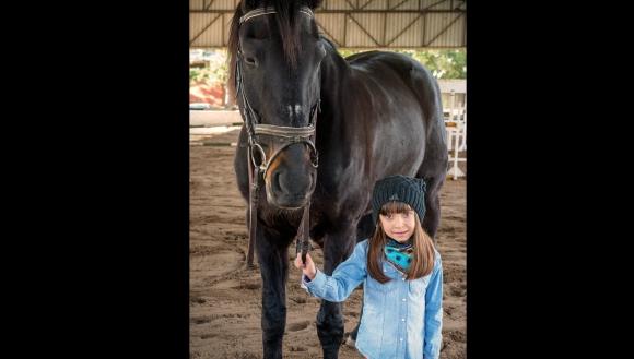 Chiara tiene 6 años y vive en el departamento de Colonia. Foto: Fundación Corazoncitos