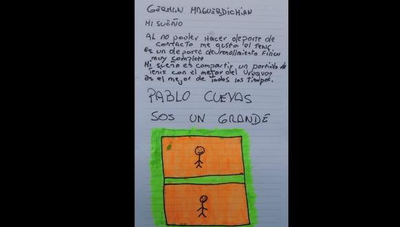 El sueño de Germán. Foto: Fundación Corazoncitos