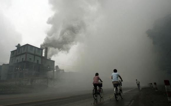 Contaminación. Foto: AFP