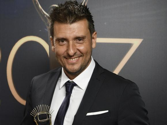 Martín Charquero ganó como el Mejor Comentarista de Fútbol en Radio.