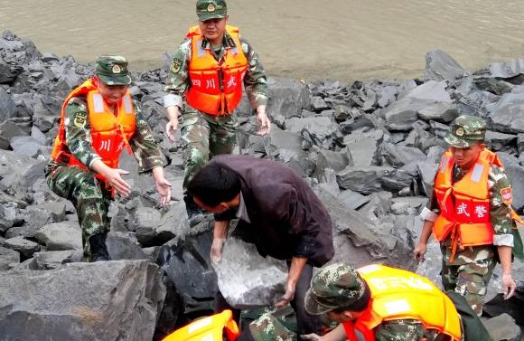 Deslizamiento de tierra en China. Foto: AFP