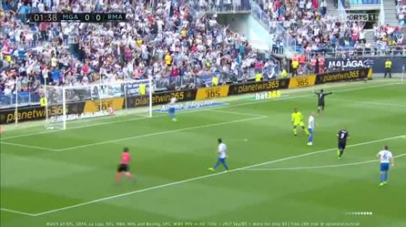 Málaga 0-2 Real Madrid - Liga de España