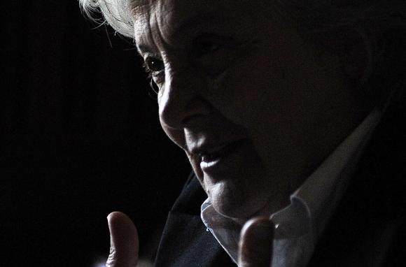 Topolansky: la senadora no quiere que Mujica sea candidato. Foto: AFP