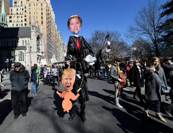 Protesta contra Trump en Nueva York.