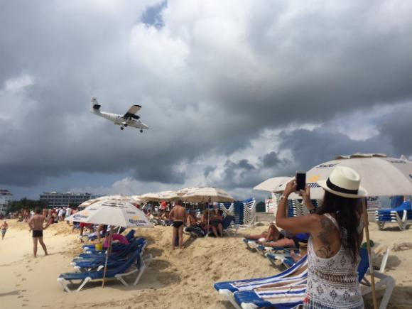 Playa Moho, la foto clásica en St. Maarten.