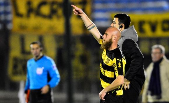 Novick entró en el segundo tiempo ante El Tanque. Foto: Gerardo Pérez