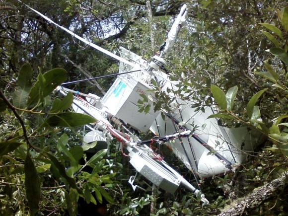 Un globo de Google cayó en Lavalleja. Foto: Cortesía Jefatura de Lavalleja