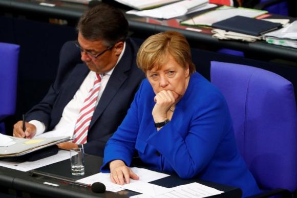La canciller Angel Merkel votó en contra del matrimonio igualitario. Foto: Reuters.