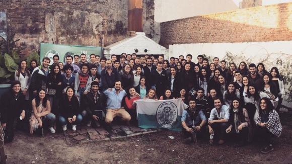 Integrantes de la Juventud 180, en aniversario del Partido Nacional. Foto: G. Baroni