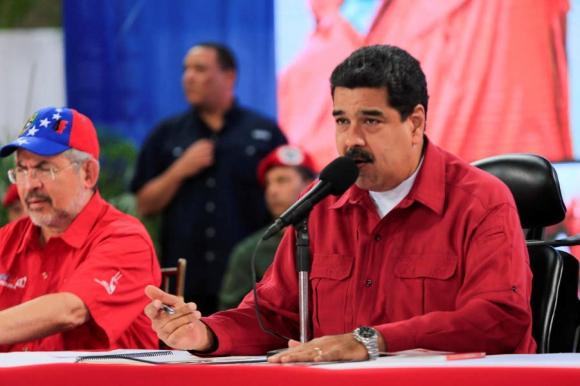 Nicolás Maduro, en un acto en la tarde hoy. Foto: Reuters