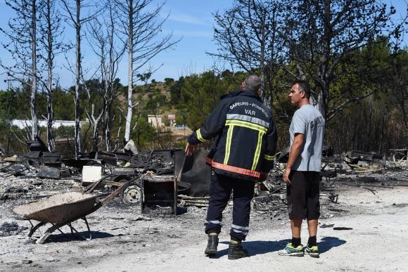 Incendios en Francia. Foto: AFP